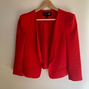 Forever 21 short jacket (red) size small